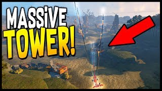 Crossout - Massive 1,000 Ft Tall Missile Tower! Tallest Build? Dual Hurricanes - Crossout Gameplay