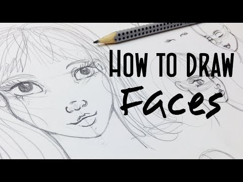 How to Draw Girl's Faces: My Way - Stylized Cartoon Faces Tutorial