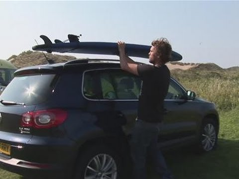 How To Attach A Surfboard To A Roofrack   YouTube
