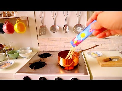 MINIATURE REAL FOOD SHRIMP & CHORIZO PASTA RECIPE |ASMR COOKING | REAL  KITCHEN SET TOY