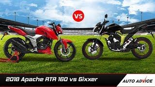 2018 Apache RTR 160 vs Suzuki Gixxer comparison