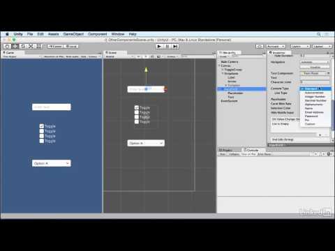 Unity 5: UI - 9.4 Creating an input field