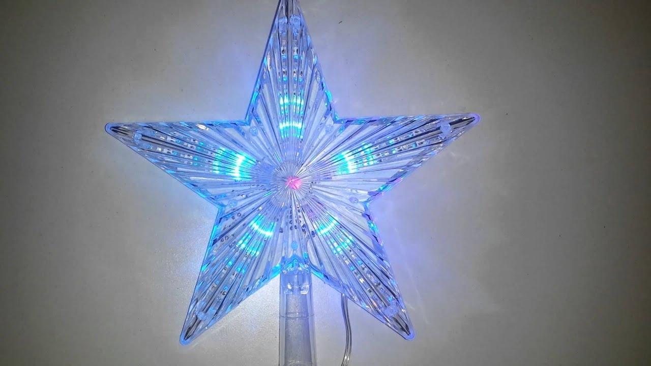 Estrella led navide a para punta de arbol youtube - Luces arbol de navidad ...