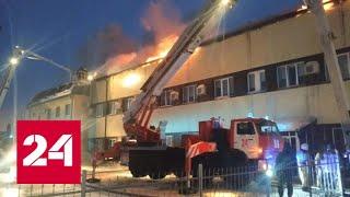 В Омске сгорел гараж с грузовиками - Россия 24