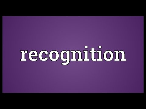 Recognition Meaning