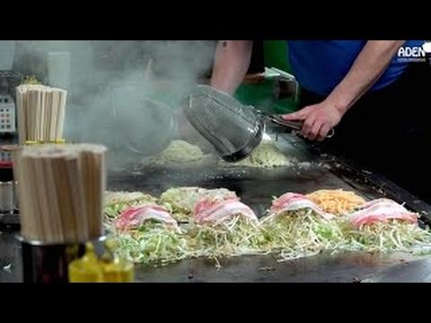 Okonomiyaki in Hiroshima, Japan