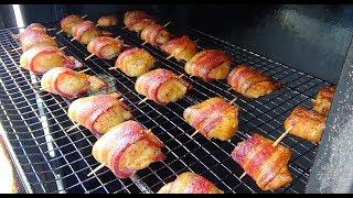 Bacon Wrapped Smoked Sea Scallops