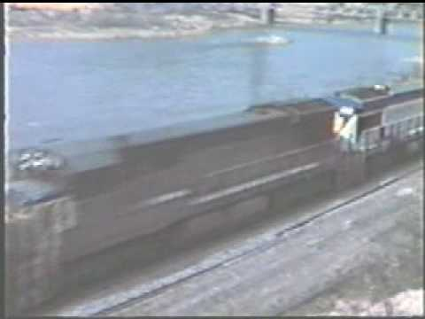LV-N&W-D&H railroad action in Lehigh Gap. 3/12/1977