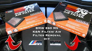 BMW E60 M5/S85 Air Filter Removal DIY