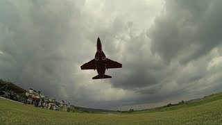 Alenia Aermacchi M-346 RC e-JET Flight , Slow motion,  on-board cockpit view Gopro Hero3