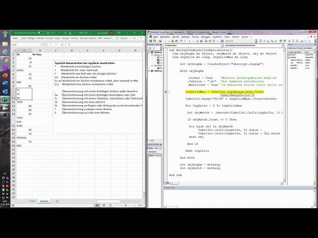 125. Excel-VBA: Bestimmte Zeichen aus Zellen extrahieren - die