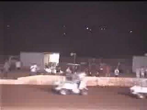 Mike Baker & Michael Gossman flip at Lawton Speedway on 8-23-08