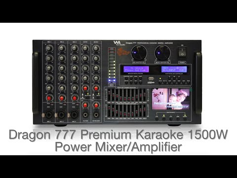 Wynn Audio Dragon 777 Premium Karaoke 1500W Power Mixer Amplifier
