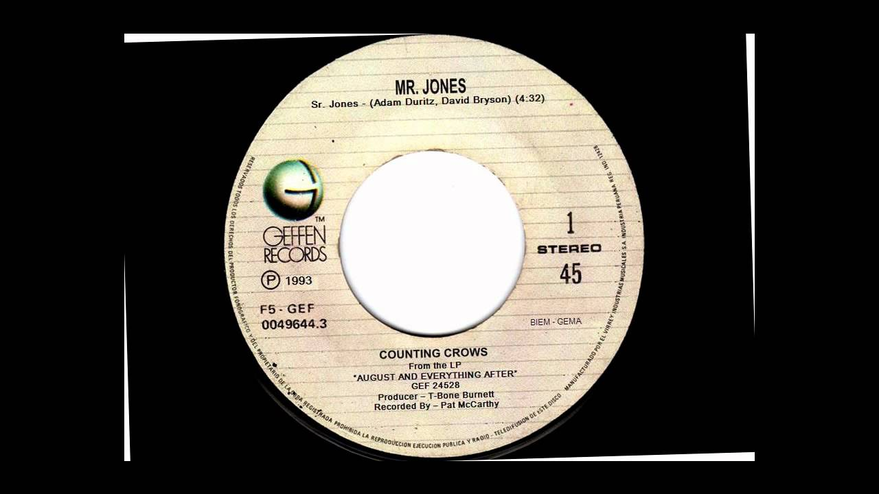 MR. JONES - COUNTING CROWS - VINYL 45 RPM