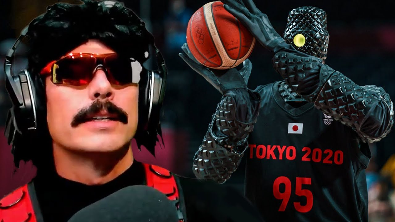 DrDisrespect Reacts to Horrifying Basketball Robot at Olympics!