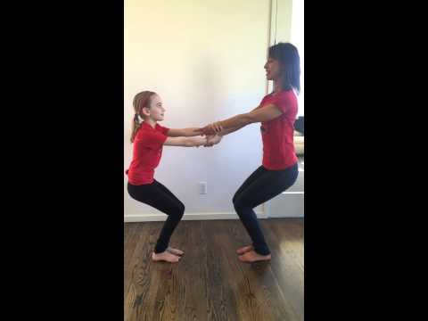 the adventure of super stretchpartner yoga standing