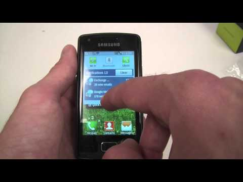Samsung Wave 578 unboxing and menu