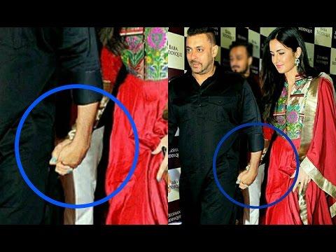Salman Khan And Katrina Kaif Caught Holding Hand At Baba Siddiqui Iftar Party 2016 !!