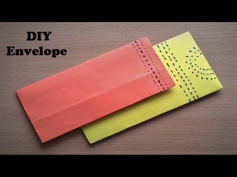 Very Easy way to make DIY Envelope - Make Paper Envelope Origami - 2017