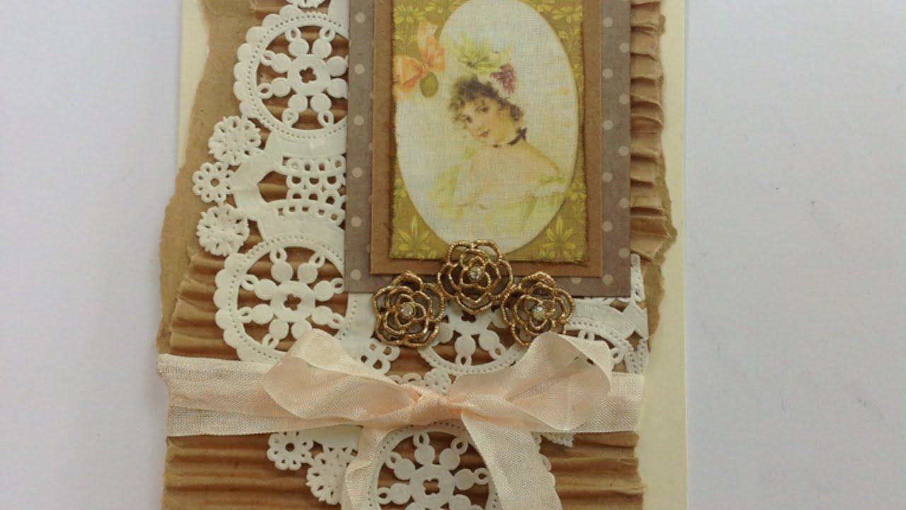 Auguri Matrimonio Vintage : Crea un biglietto di auguri vintage fai da te creazioni