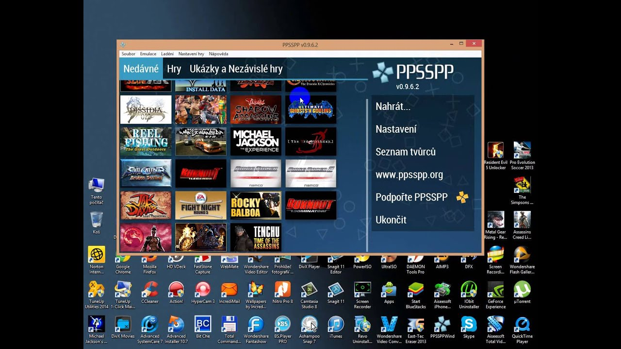 Ppsspp Gold Pc Cz Youtube