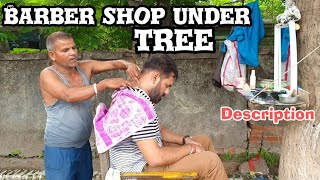 Indian street barber head massage with neck cracking Amazing relaxation ASMR