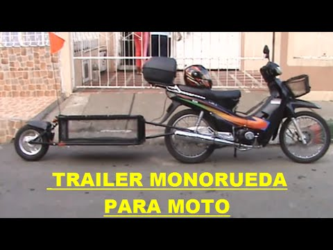 trailer monorueda para moto youtube. Black Bedroom Furniture Sets. Home Design Ideas