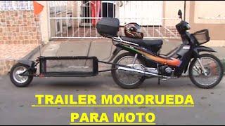 Trailer monorueda para moto