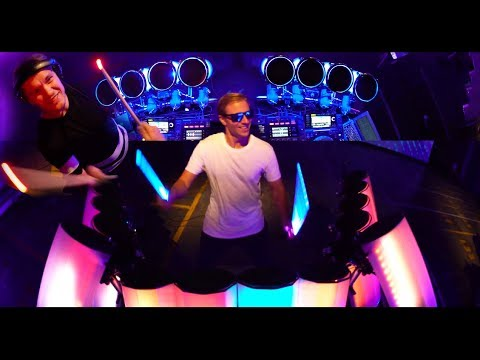 2 DRUMMERS CREATE A VISUAL WAY TO DJ