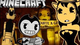 BENDY FINDS ALICE ANGEL'S SECRET LAIR! (BATIM Minecraft)