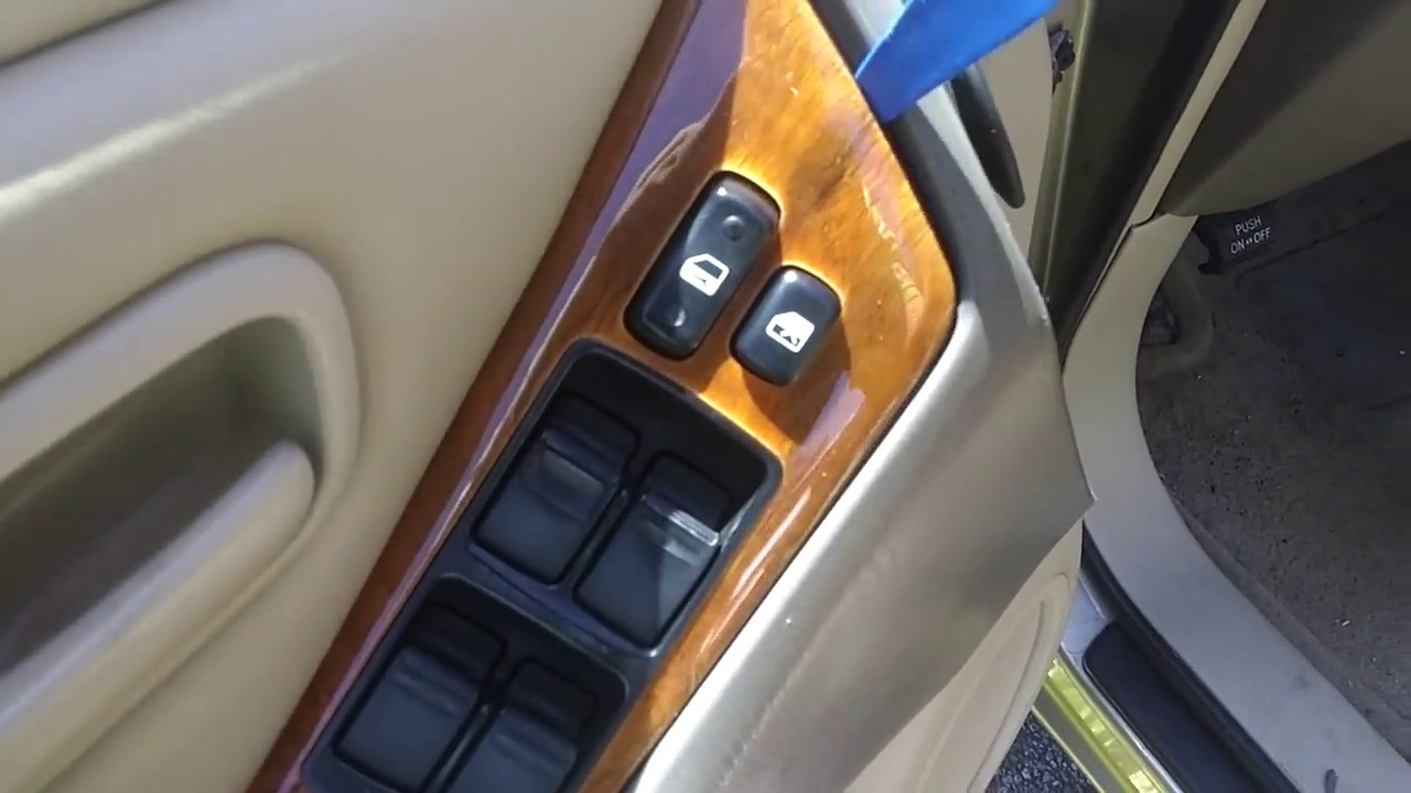 medium resolution of 99 03 lexus rx300 driver s door panel window switch removal