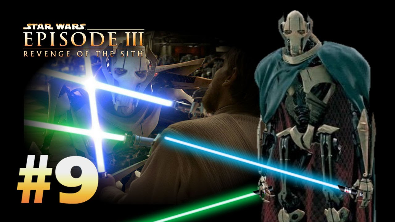 Star Wars Episode 3 Revenge Of The Sith Ps2 Walkthrough Part 9 Showdown With Grievous Youtube