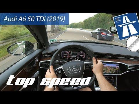 Audi A6 50 TDI (2019) on German Autobahn - POV Top Speed Drive