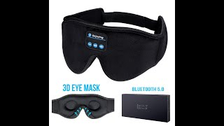 LC-dolida Bluetooth 5.0 Wireless Music Eye Mask Sleep Headphones