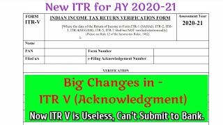 New ITR V of AY 2020-21| ITR-V not showing income | How to E-verify ITR 2020 | CA ABHISHEK JAIN