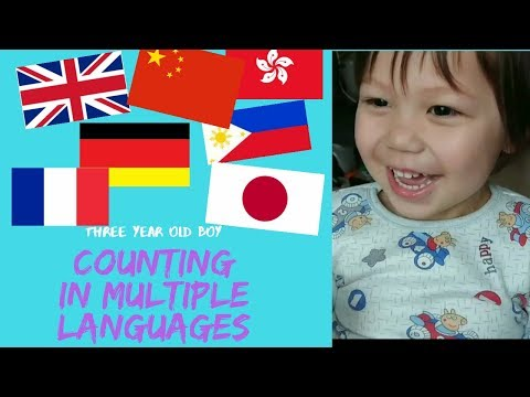 MY 3 YEAR OLD BOY COUNTING IN MULTIPLE LANGUAGES | BRITISH-FILIPINO FAMILY IN HK