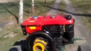 Самодельный трактор с двигателем от мотоблока ЗАРЯ
