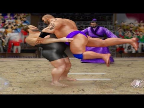 Face different sumo wrestling rivals with different fighting