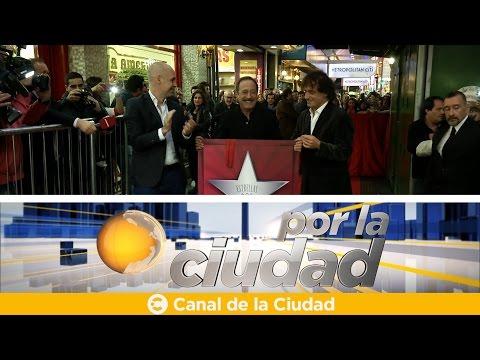 """<h3 class=""""list-group-item-title"""">Guillermo Francella recibió su """"Estrella de la calle Corrientes"""" - Por la ciudad</h3>"""