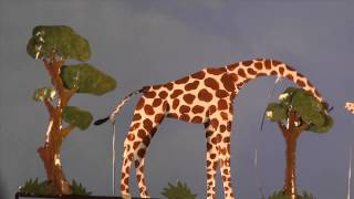 Giraffe Metal Whirligig - Wind & Weather