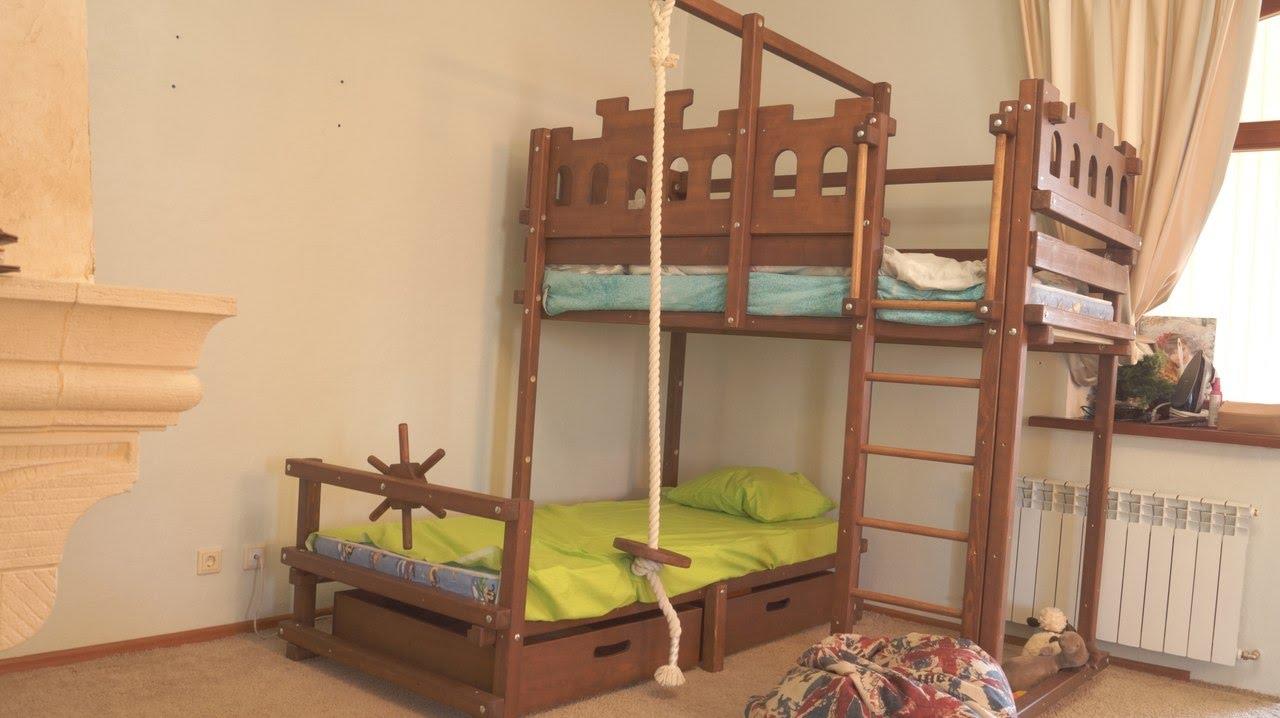 Двухъярусная кровать с ящиками дженни опт. Оптовая позиция от 10 шт. Детская двухъярусная кровать