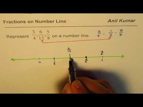How to Represent Fractions with Different Denominators on Number Line