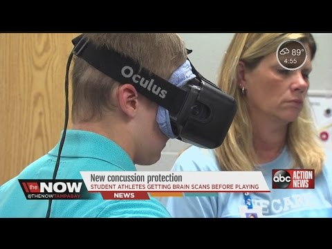 Doctors using virtual reality using to protect teens from concussions in the real world