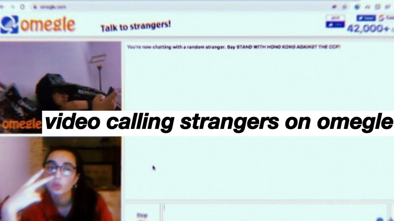 video calling strangers on omegle - YouTube