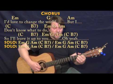 I'd Love To Change the World (Ten Years After) Fingerstyle Guitar Cover Lesson with Chords/Lyrics
