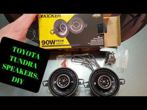 How To: Change Your Toyota Tundra TRD Speakers, Front Dash, DIY
