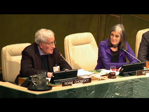 Noam Chomsky at United Nations: It Would Be Nice if the United States Lived up to International Law