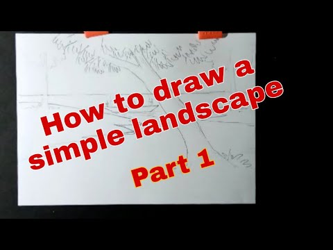 HOW TO DRAW A SIMPLE LANDSCAPE (PENCIL SHADING COMPOSITION PART – 1) | CLASSES 6&7 | DPSNK