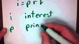 Mr  v teaching math Percent 7 Simple Interest