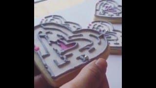 Sugar Cookie Heart Maze